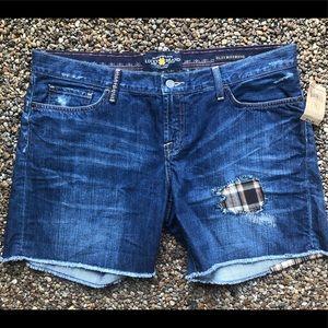 Lucky Brand denim shorts NWT 14 Riley boyfriend